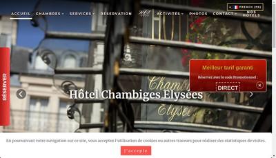 Site internet de Chambiges Elysees