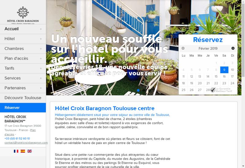 Capture d'écran du site de Hotel Croix Baragnon