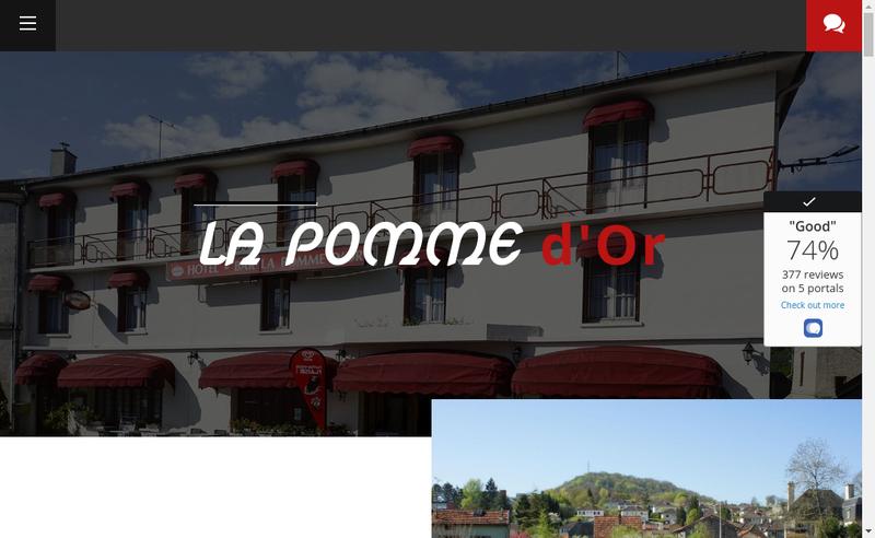 Capture d'écran du site de La Pomme d'Or