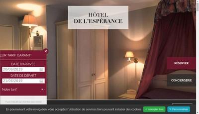 Site internet de Hotel de l'Esperance