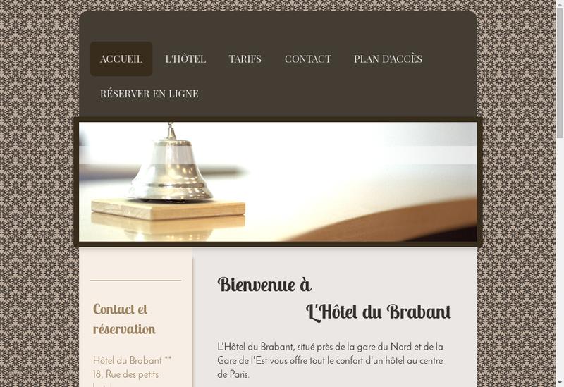 Capture d'écran du site de Hotel du Brabant