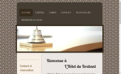 Site internet de Hotel du Brabant