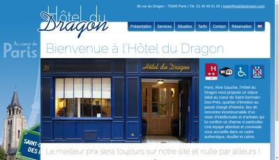 Site internet de Hotel du Dragon