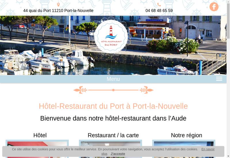 Capture d'écran du site de Hotel Restaurant du Port