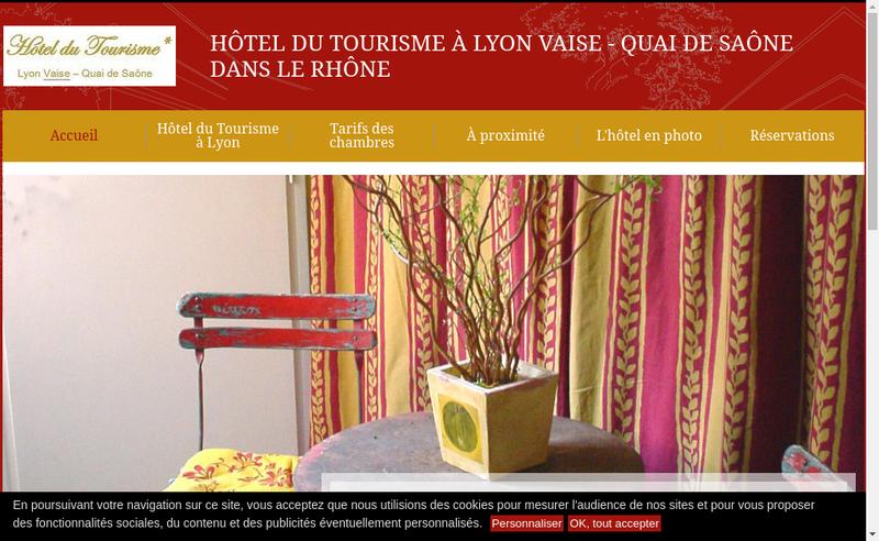 Capture d'écran du site de Hotel du Tourisme