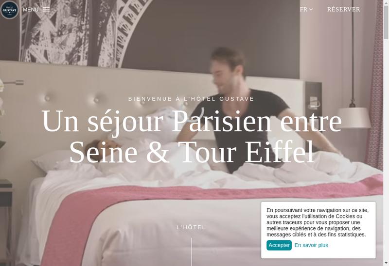 Site internet de Hotel Gustave