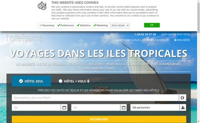 Site internet de Hotels et Lagons