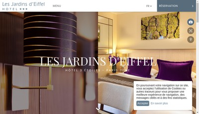 Site internet de Les Jardins d'Eiffel