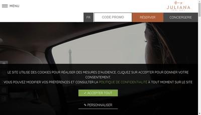 Site internet de Juliana