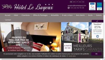 Site internet de Hotel le Bayeux