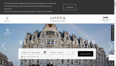 Site internet de Hotel Lutetia