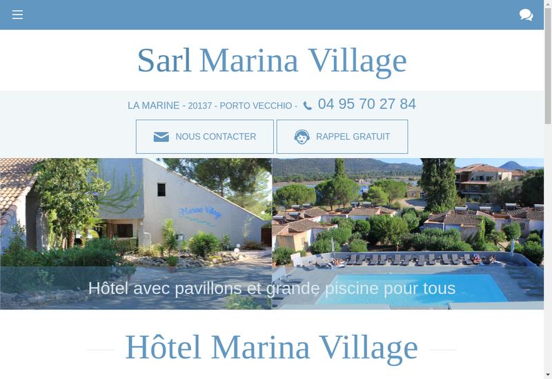 Capture d'écran du site de Marina Village