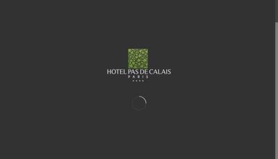 Capture d'écran du site de Hotel Pas de Calais