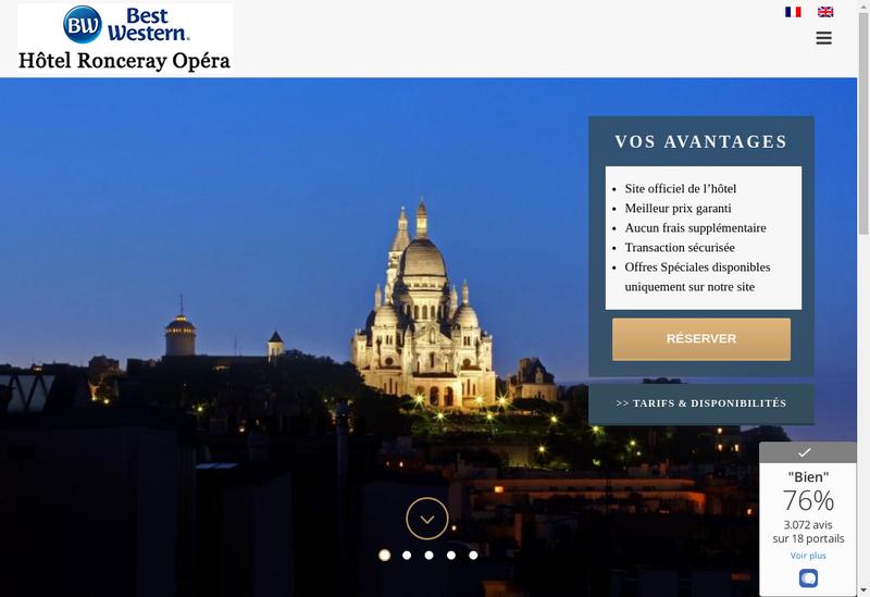 Capture d'écran du site de Hotel Ronceray