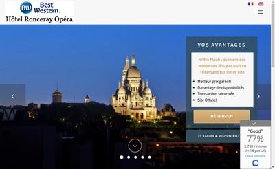 Site internet de Hotel Ronceray