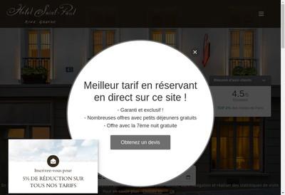 Site internet de Hotel Saint Paul