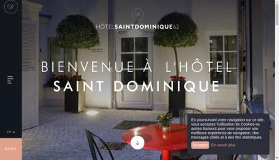 Capture d'écran du site de Hotel Saint Dominique
