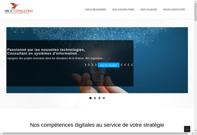 Capture d'écran du site de Hr Itconsulting