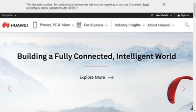 Site internet de Huawei Technologies France