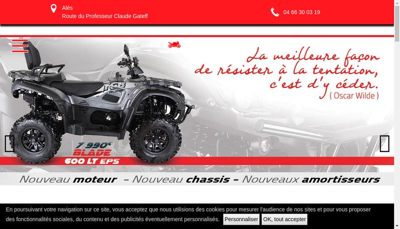 Capture d'écran du site de Hugon Moto