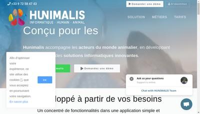 Site internet de Hunimalis
