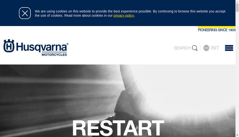 Capture d'écran du site de Husqvarna Motorcycles France
