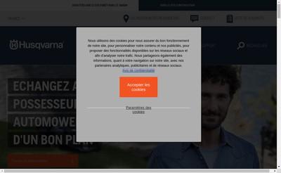 Site internet de Husqvarna Jonsered Partner Industrie