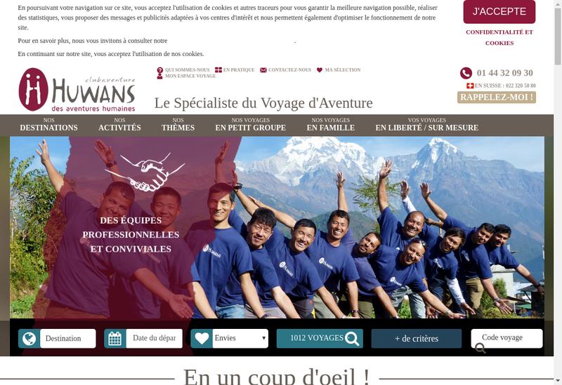 Capture d'écran du site de Monaventure-Huwans