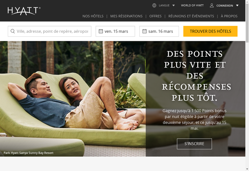 Site internet de Hyatt Regency Paris Etoile