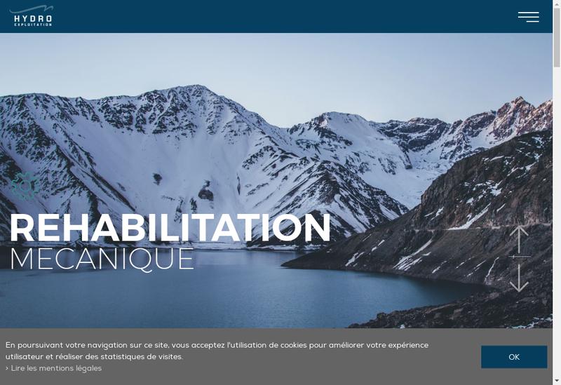 Capture d'écran du site de Hydro Exploitations