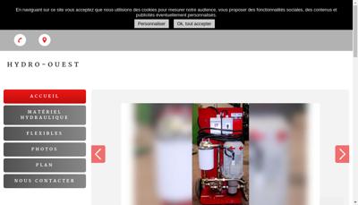 Capture d'écran du site de Hydro Ouest