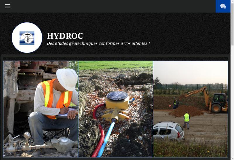 Capture d'écran du site de Hydroc