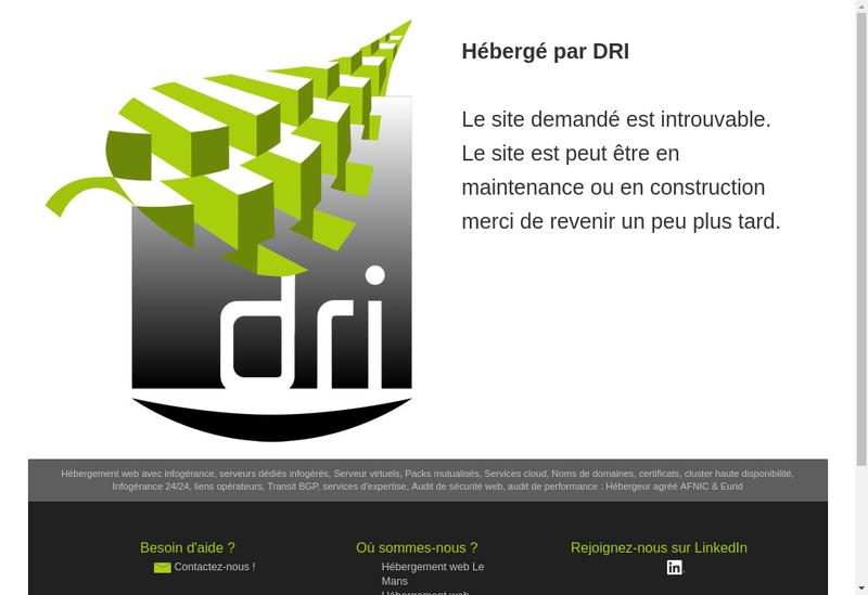 Capture d'écran du site de Hydrodiv