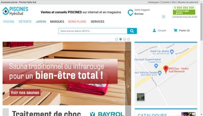 Capture d'écran du site de Bns Eau