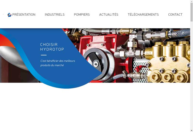 Capture d'écran du site de Hydrotop