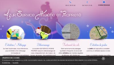 Capture d'écran du site de HYGIENE ET PROPRETE