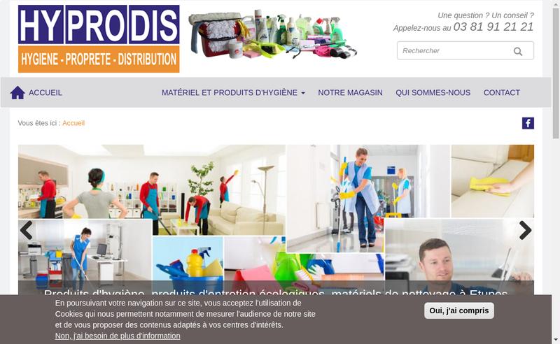 Capture d'écran du site de Hyprodis