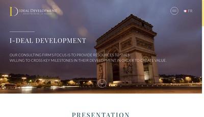 Site internet de I-Deal Developpement