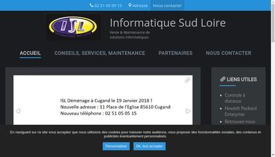Site internet de Informatique Sud Loire