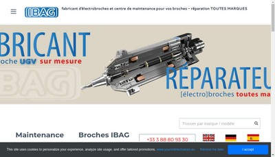 Site internet de Ibag Hsc Technology