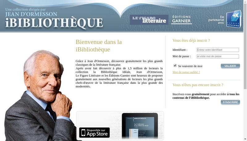 Capture d'écran du site de Editions Garnier