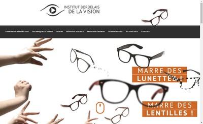 Site internet de Institut Bordelais de la Vision