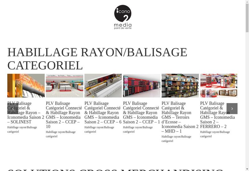Capture d'écran du site de Iconomedia