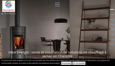 Site internet de Ideal'Energie Solutions Durables