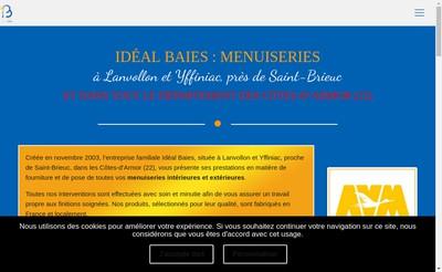 Site internet de Ideal Baies