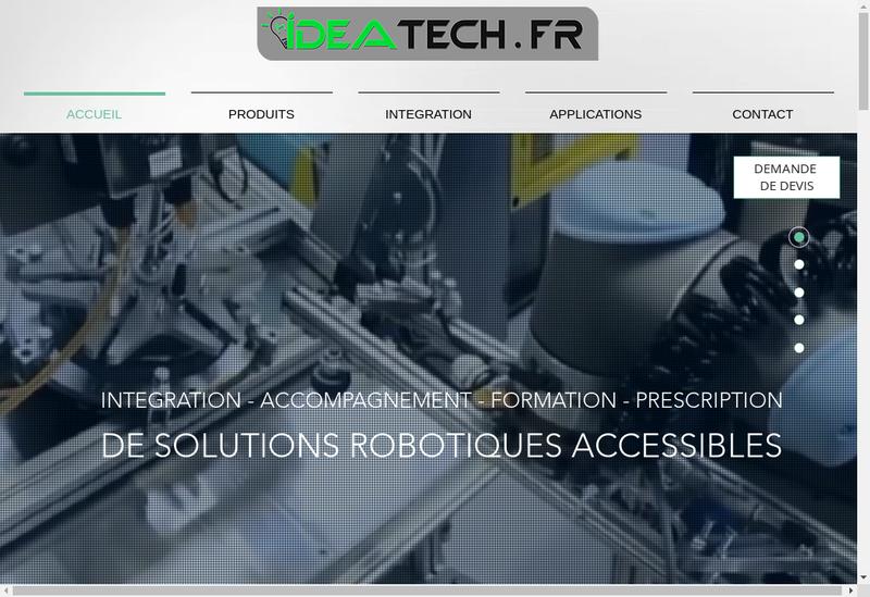 Capture d'écran du site de Ideatech