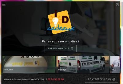 Site internet de SARL Idees Cadeaux