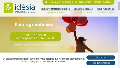 Site internet de Idesia Grand Est