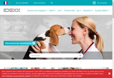Site internet de Idexx