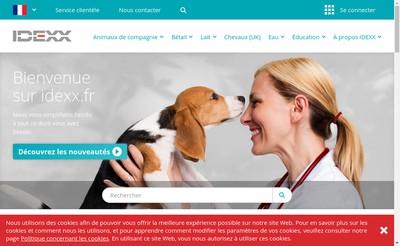 Site internet de Laboratoire Idexx Alfort